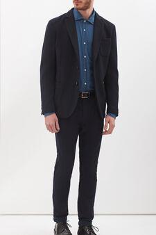 Rumford slim-fit shirt, Denim, hi-res