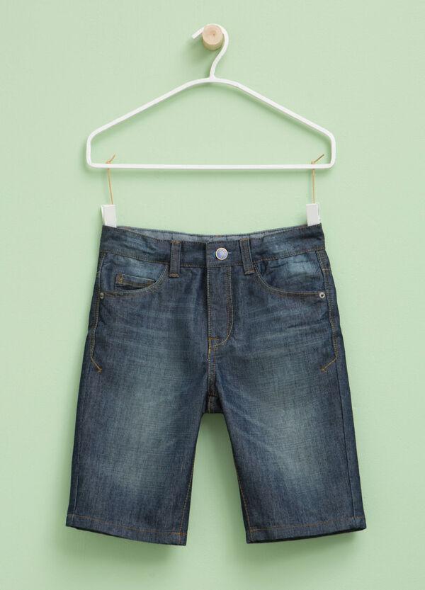 Bermuda shorts with worn effect   OVS