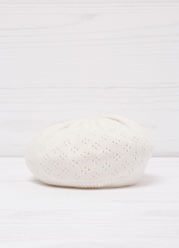 Openwork cotton beret | OVS