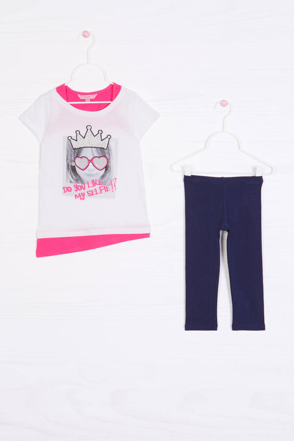 Stretch cotton outfit with print | OVS