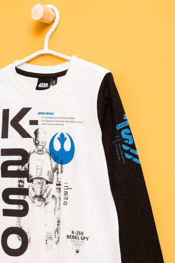 Star Wars print T-shirt, White/Black, hi-res