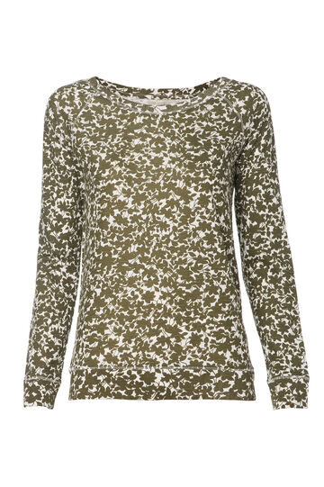 Smart Basic floral cotton T-shirt, White/Green, hi-res