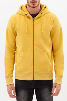 Cotton blend hoodie., Yellow, hi-res