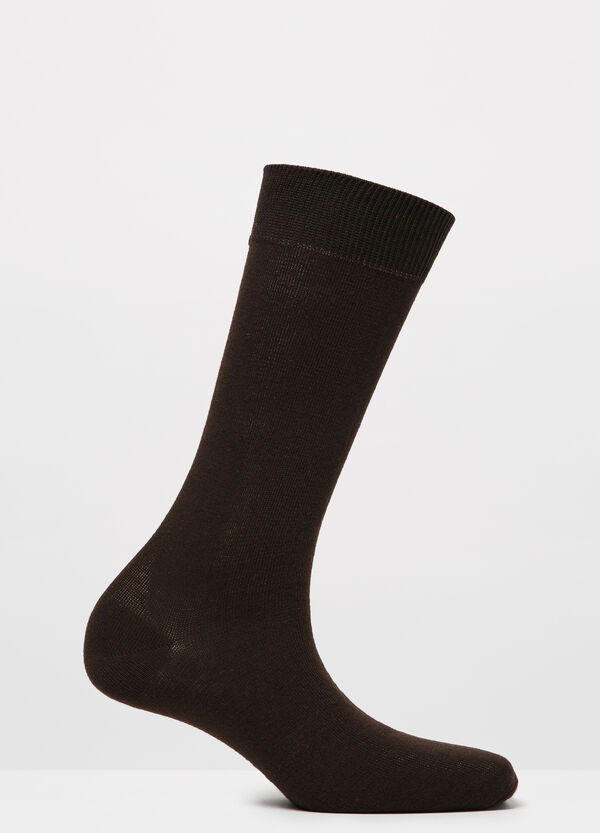 Solid colour cotton blend socks | OVS