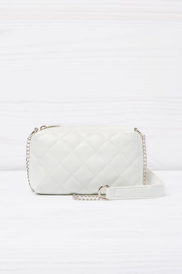Quilted mini bag, White, hi-res