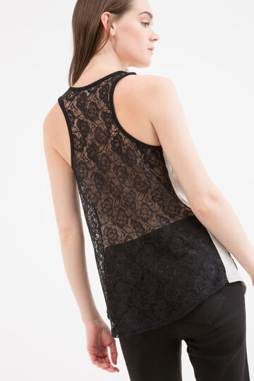 Top with sequinned openwork, White, hi-res