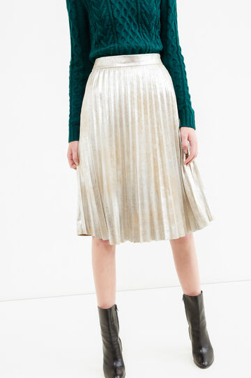 Pleated lined midi skirt, Golden Yellow, hi-res