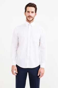Regular-fit cotton formal shirt, White, hi-res