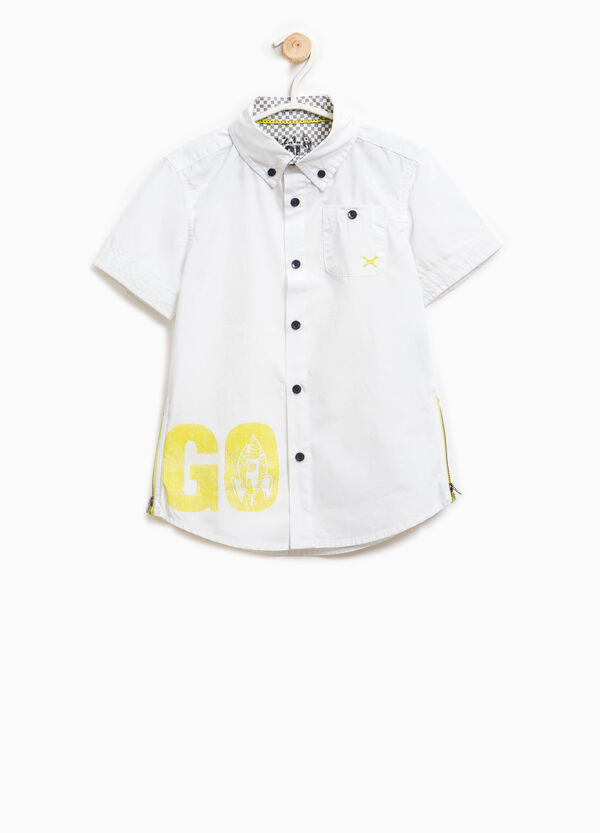 100% cotton shirt with side zips | OVS