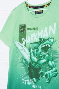 Maui & Sons cotton T-shirt, Acid Green, hi-res