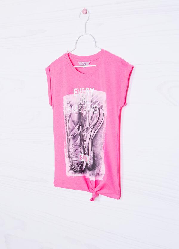 T-shirt misto cotone con stampa | OVS