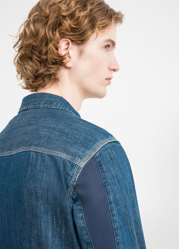 Slim-fit casual denim shirt | OVS