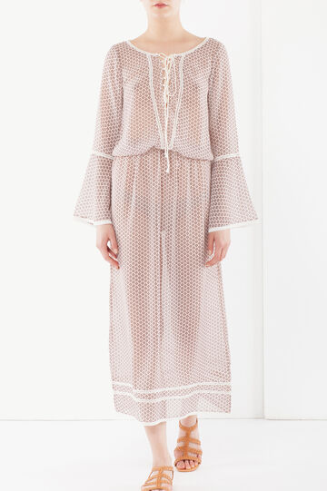 Long dress with lacing at front, Light Pink, hi-res