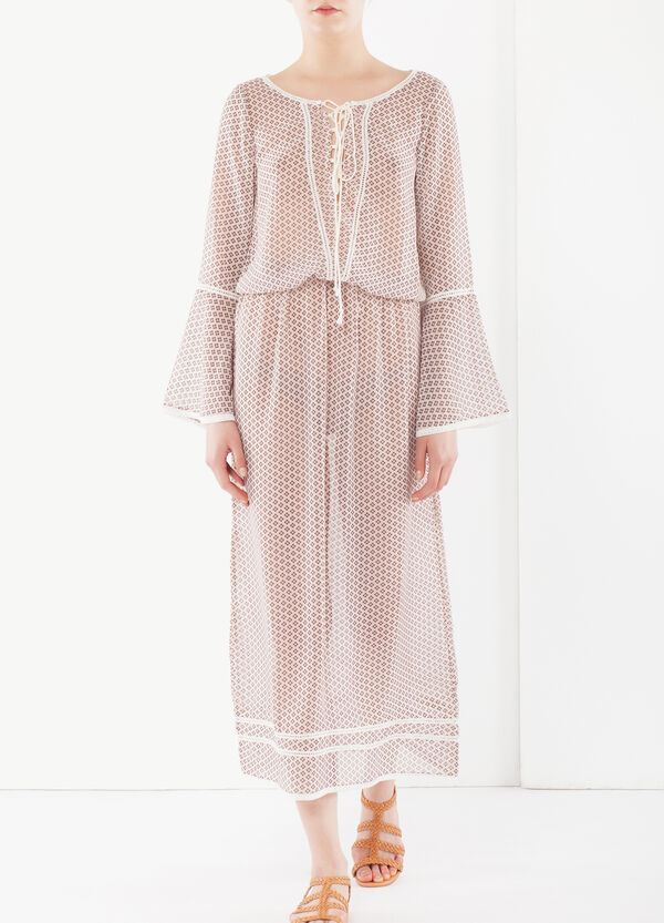 Long dress with lacing at front | OVS