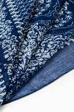 Damask print scarf, White/Blue, hi-res