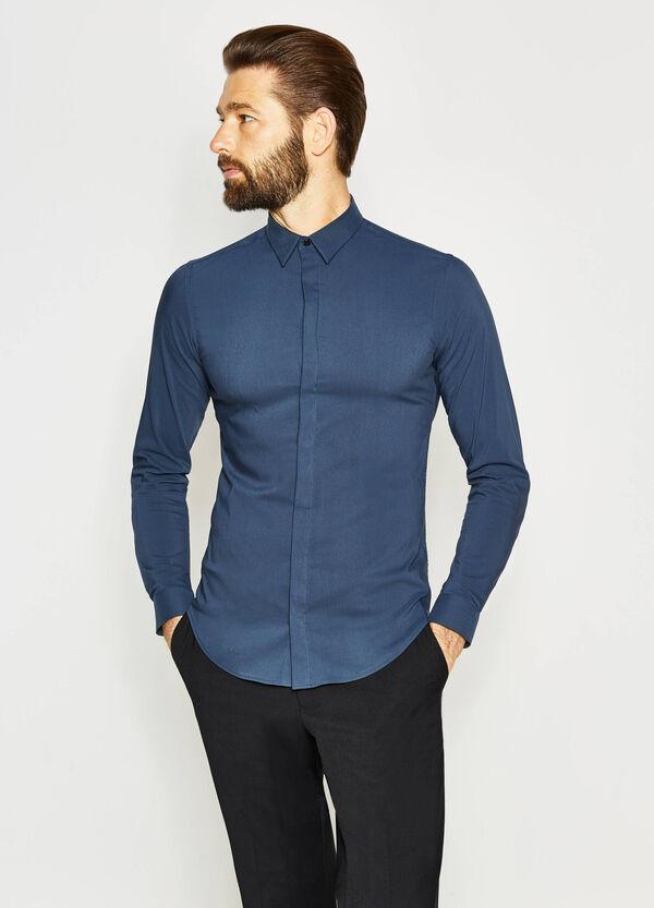 Camisa formal custom fit de algodón | OVS