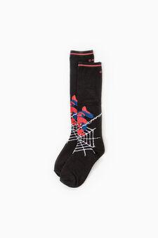 Long stretch Spiderman socks, Black, hi-res