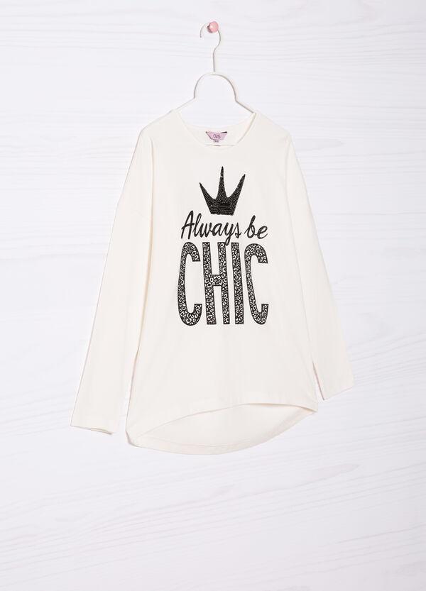 T-shirt cotone stretch stampa | OVS