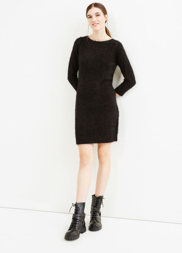 Solid colour knitted dress | OVS