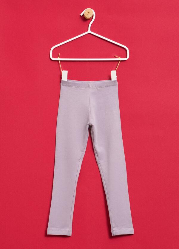 Solid colour stretch leggings | OVS