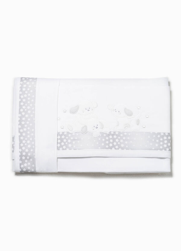 Bed sheet with star trim | OVS