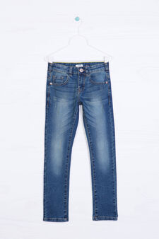 Jeans stretch slim fit, Blu chiaro, hi-res