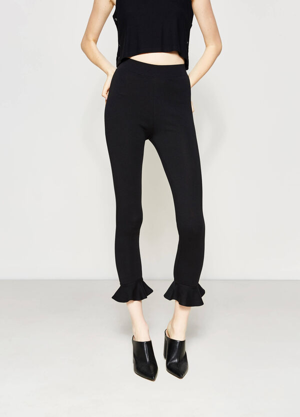 Cropped trousers with frill | OVS