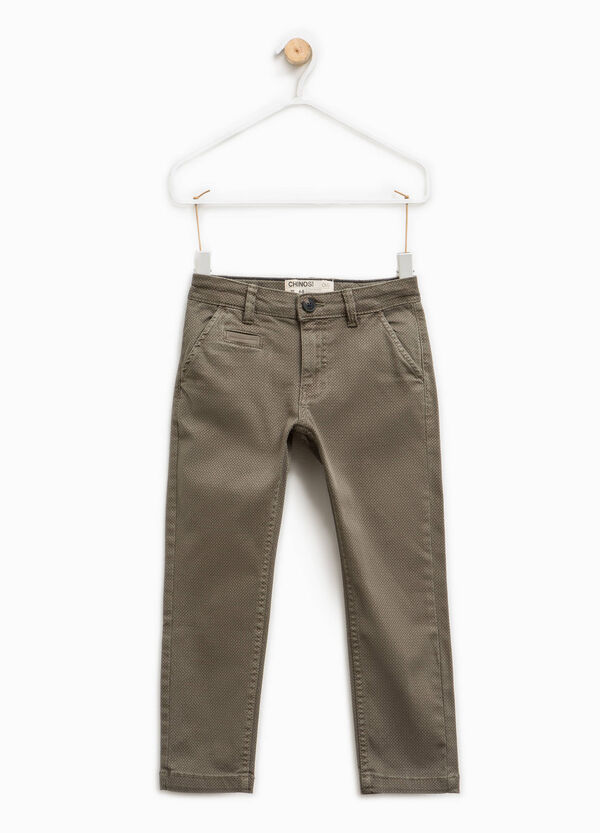 Chino trousers with micro check pattern | OVS