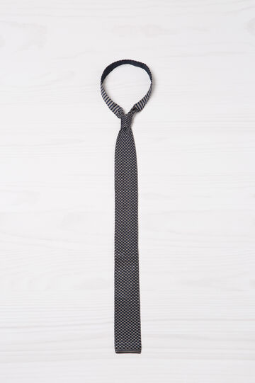 Rumford tie in 100% silk, Blue, hi-res