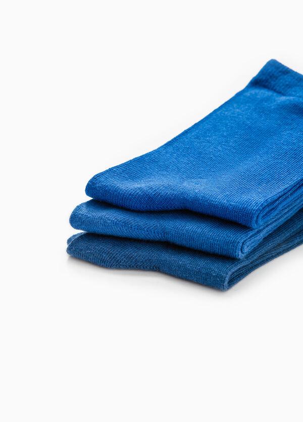Set tre paia calze stretch tinta unita | OVS