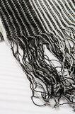 100% viscose scarf, Black/White, hi-res