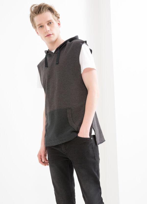 T-shirt smanicata in felpa di cotone | OVS