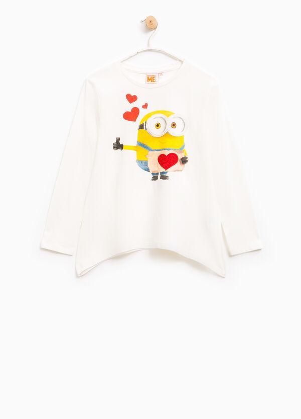 Minions glitter T-shirt with diamantés | OVS
