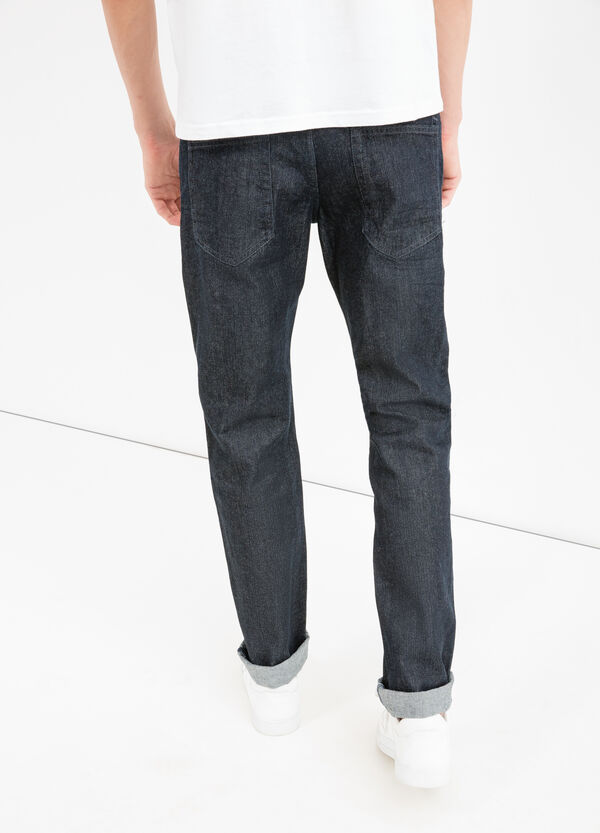 Slim fit, solid colour jeans with turned-up hems | OVS