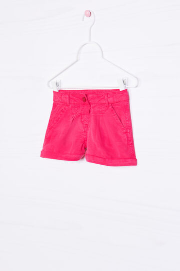 Solid colour 100% viscose shorts, Fuchsia, hi-res