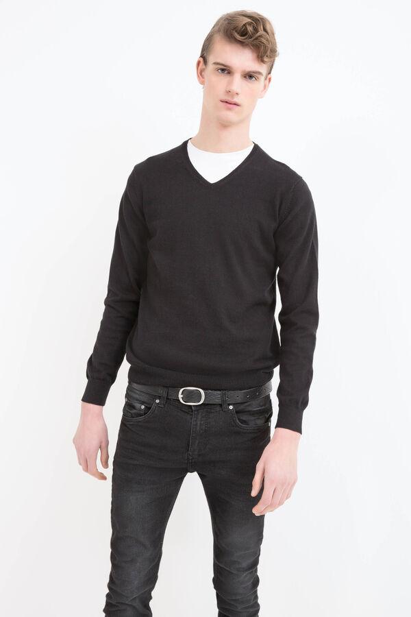 100% cotton V neck pullover | OVS