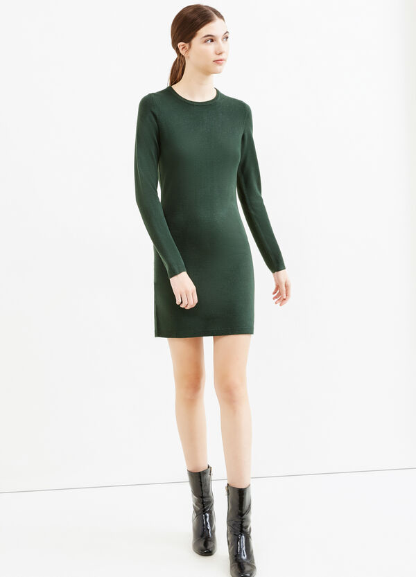 Dress with round neck and zip on back | OVS
