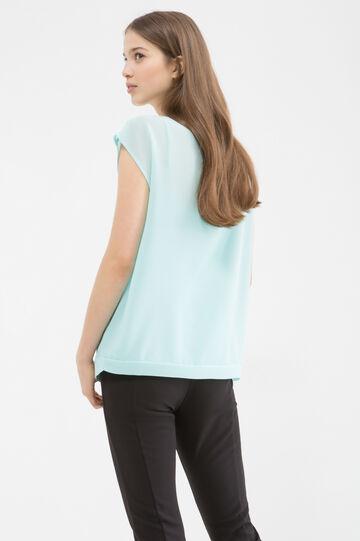 Crossover blouse, Aqua Green, hi-res