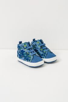 Camouflage print shoes, Blue, hi-res