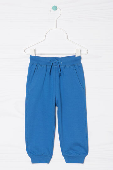 Pantaloni tuta puro cotone coulisse