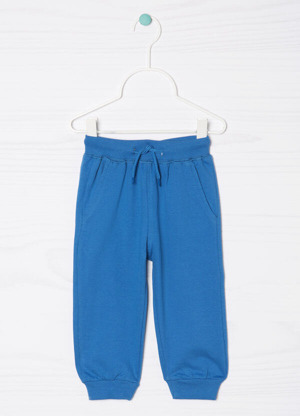 Joggers in 100% cotton with drawstring | OVS