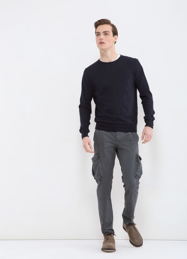 Slim-fit cargo trousers in cotton twill | OVS