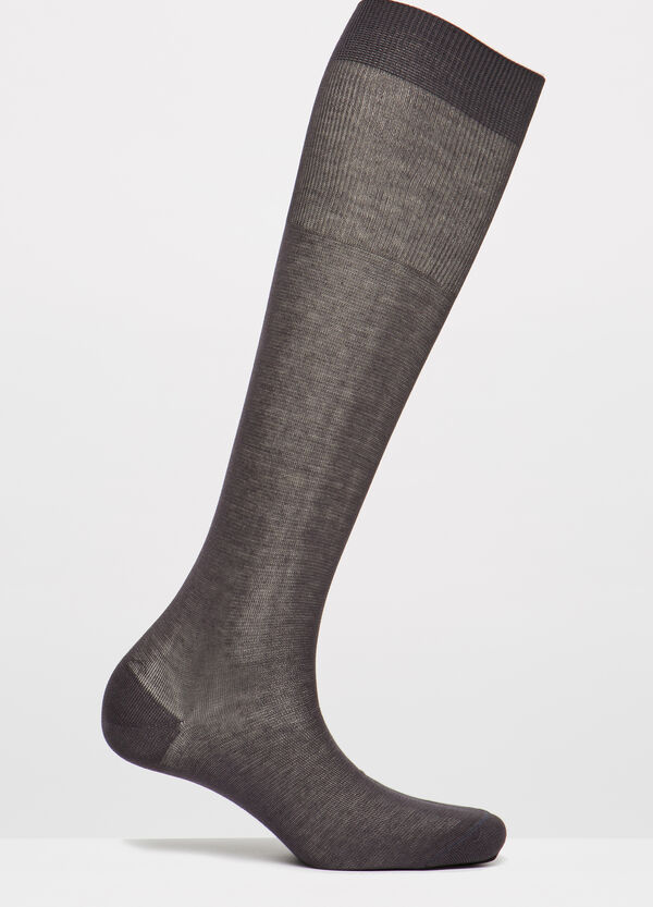 Solid colour long cotton socks | OVS