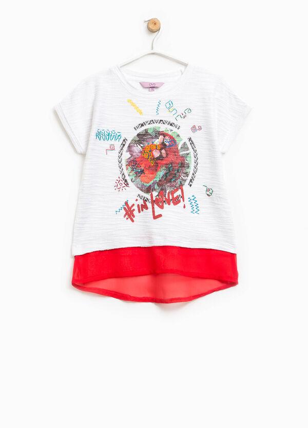 T-shirt con stampa e finto doppio | OVS