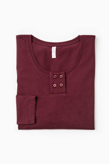 100% cotton pyjama top, Aubergine, hi-res