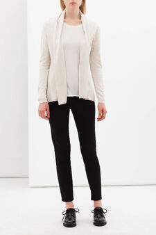 Viscose blend jacket with lapels, White, hi-res
