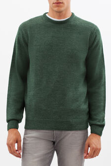 Round neck pullover, Forest Green, hi-res