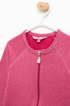 100% cotton sweatshirt with raglan sleeves, Light Purple, hi-res