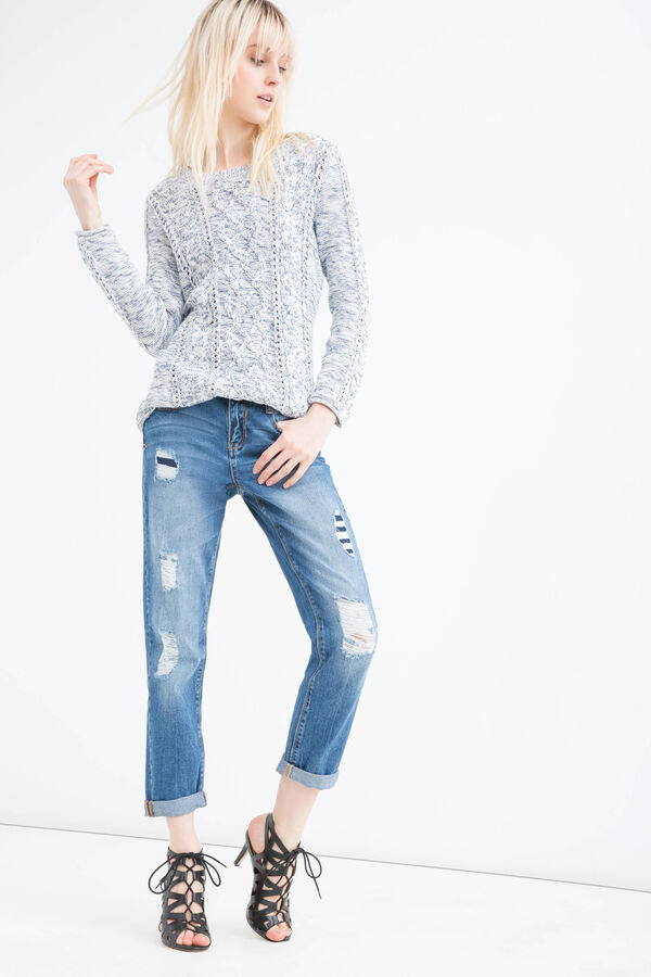 Jeans girlfriend con strappi | OVS