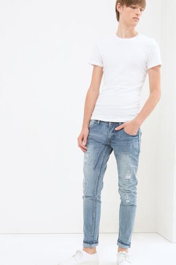 Jeans skinny fit con strappi, Azzurro, hi-res